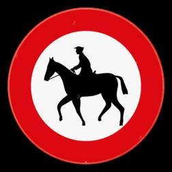 Verkeersbord C15: Verboden toegang voor ruiters. Verkeersbord SB250 C15 - Verboden toegang voor ruiters C15