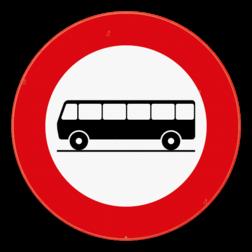 Verkeersbord C22: Verboden toegang voor bestuurders van autocars. Verkeersbord SB250 C22 - Verboden toegang voor bestuurders van autocars C22