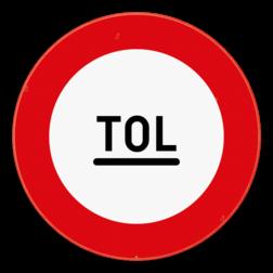 Verkeersbord C47: Tolpost. Verbod voorbij te rijden zonder te stoppen. Verkeersbord SB250 C47 - Tolpost. Verbod voorbij te rijden zonder te stoppen C47