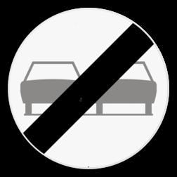 Verkeersbord C37: Einde verbod opgelegd door het verkeersbord C35. Verkeersbord SB250 C37 - Einde verbod opgelegd door het verkeersbord C35 C37