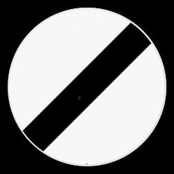 Verkeersbord C46: Einde van alle plaatselijke verbodsbepalingen opgelegd aan de voertuigen in beweging. Verkeersbord SB250 C46 - Einde van alle plaatselijke verbodsbepalingen opgelegd aan de voertuigen in beweging C46