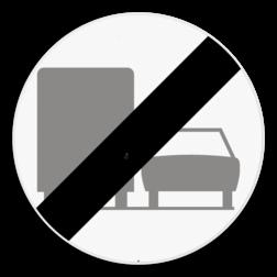 Verkeersbord C41: Einde van het verbod opgelegd door het verkeersbord C39. Verkeersbord SB250 C41 - Einde van het verbod opgelegd door het verkeersbord C39 C41