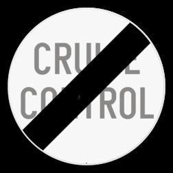 Verkeersbord C49: Einde van het verbod opgelegd door het verkeersbord C48. Verkeersbord SB250 C49 - Einde van het verbod opgelegd door het verkeersbord C48 C49