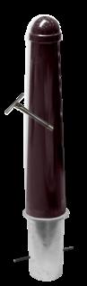Conische trottoirpaal - zonder logo - Ø164x750mm uitneembaar met grondstuk - in RAL kleur Amsterdamse paaltjes, stoeppaaltje, trottoir paal, stoeppaal, afzetpaal, conische, trottoirpaal