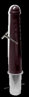 Amsterdammertje Ø164x750mm met grondstuk - RAL6012 inclusief wapen Amsterdamse paaltjes, stoeppaaltje, trottoir paal, stoeppaal, afzetpaal, conische, trottoirpaal
