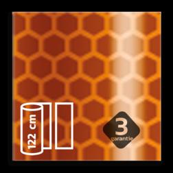 Flexibel reflecterende folie Oranje FLUOR V-8014 EVG gemetalliseerd reflex, fluoricerend, reflecterend, retroreflex, retroreflecterend, retro, bordfolie, signface