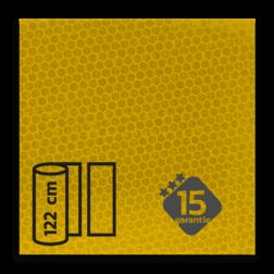 Reflecterende folie Geel klasse 3 T-7501-B reflex, fluoricerend, reflecterend, retroreflex, retroreflecterend, retro, bordfolie, signface