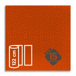 Reflecterende folie FLUOR Oranje klasse 3 T-7514 reflex, fluoricerend, reflecterend, retroreflex, retroreflecterend, retro, bordfolie, signface