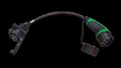 Adapter voor laadpaal type 1 naar type 2 voertuig (max. 1x16a/230v) laadkabel, adapter, type 1, type 2, omvormer