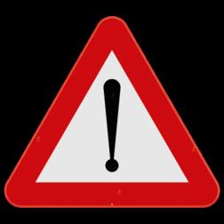 Verkeersbord A51: Dit gevaarsbord geeft aan dat je een gevaarlijke situatie zal tegenkomen, de situatie wordt uitgelegd door middel van een onderbord. Verkeersbord SB250 A51 - Gevaar A51