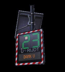 Snelheidsdisplay I-SAFE TS2 snelheidsdisplay, snelheidsindicator, smiley bord, smileybord