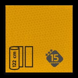 Reflecterende folie FLUOR-Geel klasse 3 T-7511 reflex, fluoricerend, reflecterend, retroreflex, retroreflecterend, retro, bordfolie, signface