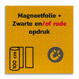 Magneetbord reflecterend FLUOR Geel klasse 3 Zwart/Rode opdruk reflex, fluoricerend, reflecterend, retroreflex, retroreflecterend, retro, bordfolie, signface