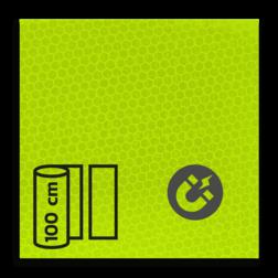 Magneetbord reflecterend FLUOR Geel/Groen klasse 3 T-7513 reflex, fluoricerend, reflecterend, retroreflex, retroreflecterend, retro, bordfolie, signface