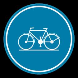 Verkeersbord D7: Verplichting om het fietspad te gebruiken. Verkeersbord SB250 D7 - Verplicht fietspad D7