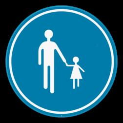 Verkeersbord D11: Verplichte weg voor voetgangers. Verkeersbord SB250 D11 - Verplichte weg voor voetgangers D11