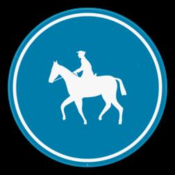 Verkeersbord D13: Verplichte weg voor ruiters. Verkeersbord SB250 D13 - Verplichte weg voor ruiters D13