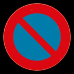 Verkeersbord E1: Dit verkeersbord geeft aan dat je hier niet mag parkeren. Het verbod geldt voor de kant van de weg waar het geplaatst is, tot aan het eerstvolgende kruispunt. Verkeersbord SB250 E1 - Parkeerverbod E1