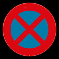 Verkeersbord E3: Dit verkeersbord geeft aan dat je hier niet mag stilstaan of parkeren. Het verbod geldt voor de kant van de weg waar het geplaatst is, tot aan het eerstvolgende kruispunt. Verkeersbord SB250 E3 - Stilstaan en parkeren verboden E3