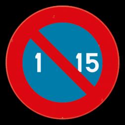 Verkeersbord E5: Dit verkeersbord geeft aan dat je hier niet mag parkeren van de 1e tot de 15e van de maand. Het verbod geldt voor de kant van de weg waar het geplaatst is, tot aan het eerstvolgende kruispunt. Verkeersbord SB250 E5 - Parkeerverbod van de 1e tot de 15e van de maand E5