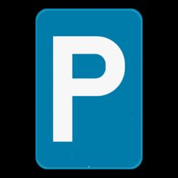 Verkeersbord E9a: Dit verkeersbord geeft aan dat het een openbare parkeerplaats voor alle soorten voertuigen is. Verkeersbord SB250 E9a - Parkeren toegelaten E9a