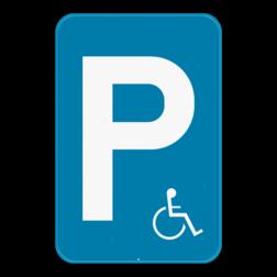 Verkeersbord E9a mindervaliden: Dit verkeersbord geeft aan dat deze parking voorbehouden is voor mindervaliden die beschikken over een speciale parkeerkaart. Verkeersbord SB250 E9a mindervaliden - Parkeren enkel toegelaten voor mindervaliden E9a mindervaliden