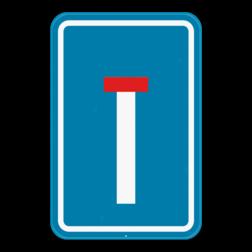 Verkeersbord F45: Dit verkeersbord geeft aan dat dit een doodlopende weg is. Verkeersbord SB250 F45 - Doodlopende weg F45