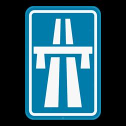Verkeersbord F5: Dit verkeersbord geeft aan dat dit het begin of een oprit van een autosnelweg is. Verkeersbord SB250 F5 - Autosnelweg F5