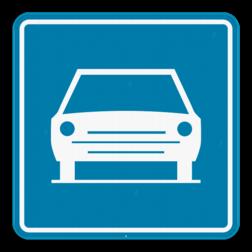 Verkeersbord F9: Dit verkeersbord geeft aan dat vanaf deze plaats de bijzondere verkeersregelen op de autowegen gelden. Verkeersbord SB250 F9 - Autoweg F9