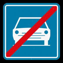 Verkeersbord F11: Dit verkeersbord geeft aan dat vanaf dat hier het einde is van de autoweg. De bijzondere verkeersregels gelden vanaf hier ook niet meer. Verkeersbord SB250 F11 - Einde autoweg F11