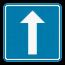 Verkeersbord F19: Dit verkeersbord geeft aan dat deze straat, een straat is met eenrichtingsverkeer. Verkeersbord SB250 F19 - Eenrichtingsverkeer F19