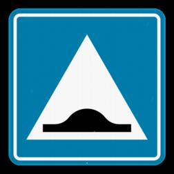 Verkeersbord F87: Dit verkeersbord geeft aan dat er hier een verhoogde inrichting of vluchtheuvel is. Verkeersbord SB250 F87 - Verhoogde inrichting F87