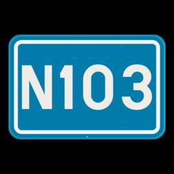 Verkeersbord F23a: Dit verkeersbord geeft de nummer aan van een gewone weg. Verkeersbord SB250 F23a - Nummer van een gewone weg F23a