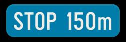 Verkeersbord GIb: Dit verkeersbord geeft de afstand weer tot de aanduiding die op het verkeersbord staat dat er boven hangt. Verkeersbord SB250 G type Ib - Aanduiding van een afstand GIb