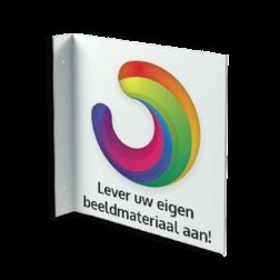 Haaks bord - met eigen ontwerp / logo muurbord, haaks, eigen, ontwerp,