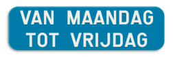 Verkeersbord GV: Dit verkeersbord is een aanvulling van de verkeersborden betreffende het stilstaan en parkeren. Verkeersbord SB250 G type V - Aanvulling op de verkeersborden stilstaan en parkeren GV
