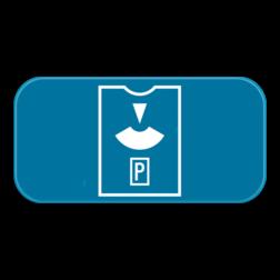 Verkeersbord GVIIb: Dit verkeersbord is een aanvulling op een parkeerbord. In dit geval een parkeerschijf. Verkeersbord SB250 G type VIIb - Aanvulling op verkeersborden voor stilstaan en parkeren GVIIb