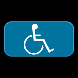 Verkeersbord GVIId: Dit verkeersbord is een aanvulling op een parkeerbord. In dit geval mindervaliden. Verkeersbord SB250 G type VIId - Aanvulling op verkeersborden voor stilstaan en parkeren GVIId