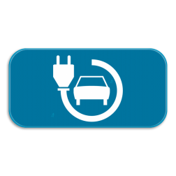 Verkeersbord GVIId: Dit verkeersbord is een aanvulling op een parkeerbord. In dit geval oplaadpunt voor wagens. Verkeersbord SB250 G type VIId - Aanvulling op verkeersborden voor stilstaan en parkeren GVIId
