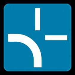Verkeersbord GVIII: Onderbord mag de verkeersborden B1, B3, B5, B7 en B15 aanvullen om het tracé van de weg aan te duiden waarop de bestuurders aan het volgend kruispunt voorrang hebben. Wanneer het verkeersbord B9 vóór of op het kruispunt geplaatst is, mag het eveneens met dit onderbord aangevuld worden. Verkeersbord SB250 G type VIII - Voorrangs aanduiding GVIII