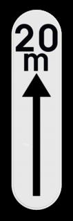 Verkeersbord GXc: Dit verkeersbord duid aan dat deze reglementering over een korte afstand geldig is. Dit bord wordt geplaatst onder een parkeer beperking of toelating. Verkeersbord SB250 G type Xc - Reglementering op een korte afstand GXc