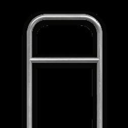 Fietsbeugel staal - 700x1200mm - ø60mm rek, fietsenrek, NUSO, speeltuin