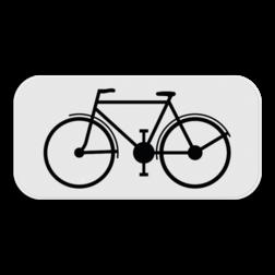 Verkeersbord M1: Dit onderbord is een aanvulling op een verkeersbord en geeft aan dat dit voorbehouden is of enkel van toepassing is voor fietsers. Verkeersbord SB250 M1 - Enkel voor fietsers M1