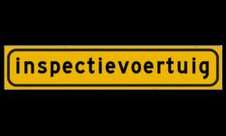 Autobord 500x100mm reflecterend geel FLUOR Verkeersregelaar, regelaar