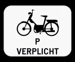 Verkeersbord M13: Dit onderbord is een aanvulling op een D7 bord en verplicht speed pedelecs om ook het fietspad te gebruiken. Verkeersbord SB250 M13 - Verplichting voor speed pedelecs M13