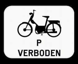 Verkeersbord M15: Dit onderbord is een aanvulling op een D7 bord en verbied speed pedelecs om ook het fietspad te gebruiken. Verkeersbord SB250 M15 - Verbod voor speed pedelecs M15