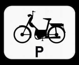 Verkeersbord M19: Dit onderbord is een aanvulling op een verkeersbord en geeft aan dat dit voorbehouden is of enkel van toepassing is voor bestuurders van speed pedelecs. Verkeersbord SB250 M19 - Enkel voor speed pedelecs M19