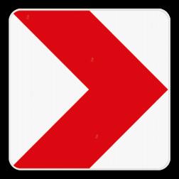 Verkeersbord Type V: Dit verkeersbord dient als bebakening van een bocht. Verkeersbord SB250 Type V Type V