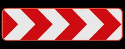 Verkeersbord Type Va: Dit verkeersbord dient als bebakening van een bocht. Verkeersbord SB250 Type Va Type Va