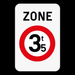 Verkeersbord ZC21: Dit verkeersbord geeft aan dat hier het begin is van een zone waar de toegang verboden is voor bestuurders van voertuigen waarvan de massa in beladen toestand hoger is dan de aangeduide massa. Verkeersbord SB250 ZC21 ZC21